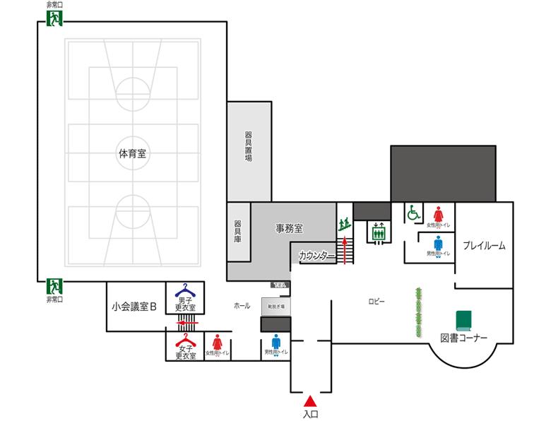 1階フロアマップ写真