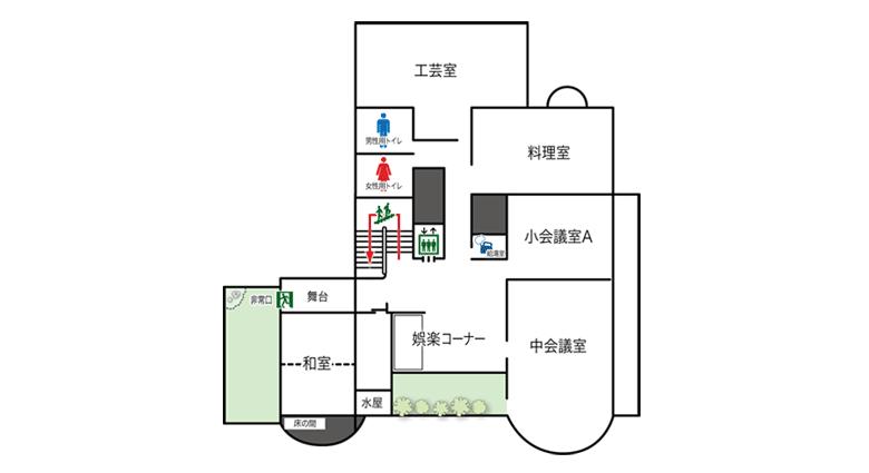 2階フロアマップ写真